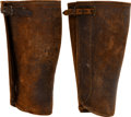 Military & Patriotic:WWI, U.S. Private Purchase Military Leather Leggings....