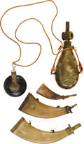 Arms Accessories:Horns, Collection of Four Vintage Powder Horns....