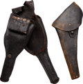 Arms Accessories:Holsters, Pommel Holster and Civil War Era Revolver Holster.... (Total: 2Items)