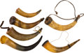 Arms Accessories:Horns, Lot of Six Powder Horns....