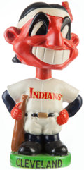 Baseball Collectibles:Others, 1963-66 Cleveland Indians Green Base Nodder - Mint....