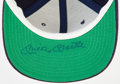 Baseball Collectibles:Hats, Mickey Mantle Signed Chicago Bears Cap....