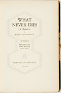 Books:Literature Pre-1900, Barbey d'Aurevilly. LIMITED. What Never Dies: A Romance.Privately Printed, 1928. One of 150 copies, of which th...
