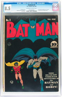 Batman #3 (DC, 1940) CGC VF+ 8.5 Off-white to white pages