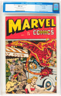 """Golden Age (1938-1955):Superhero, Marvel Mystery Comics #74 """"D"""" Copy (Timely, 1946) CGC NM 9.4 Cream to off-white pages...."""