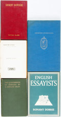 Books:Books about Books, [English Literature]. Group of Five Books Related to BritishWriters. Various publishers and dates.... (Total: 5 Items)