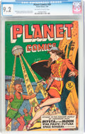 Golden Age (1938-1955):Science Fiction, Planet Comics #59 (Fiction House, 1949) CGC NM- 9.2 Off-white towhite pages....