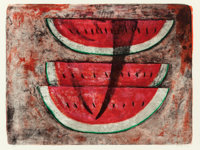 RUFINO TAMAYO (Mexican, 1899-1991) Sandia #1 (watermelon) Lithograph in colors 20-1/2 x 27-1/4 in