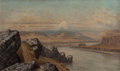 Miscellaneous, CYRENIUS HALL (American, 1830-1896). Mount Hood, ColumbiaGorge. Oil on canvas. 18 x 30 inches (45.7 x 76.2 cm). Signed...