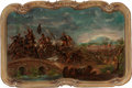 Fine Art - Painting, Russian, CONTINENTAL SCHOOL (19th Century). In the Heat of Battle(two works). Oil on board, each. 28 x 44 inches (71.1 x 111.8 c...(Total: 2 Items)