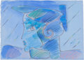 Works on Paper, PETER MAX (American, b. 1937). Female Portrait. Watercolor on paper. 7-1/4 x 10 inches (18.4 x 25.4 cm) (sheet). Signed ...
