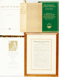 Books:Literature Pre-1900, [Oscar Wilde]. Group of Four Books Related to Wilde [and:] A PressSheet for Bibliography of Oscar Wilde by St... (Total: 5Items)