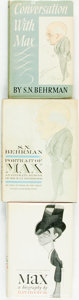 Books:Biography & Memoir, [Max Beerbohm]. Group of Three Biographies about Beerbohm. Various publishers and dates.... (Total: 3 Items)