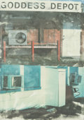 Prints, ROBERT RAUSCHENBERG (American, 1925-2008). In Transit, Doctors of the World Collection, 2001. Lithograph in colors on wo...