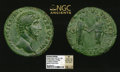 Ancients:Roman Imperial, Ancients: Lucius Verus (AD 161-169). Orichalcum sestertius (19.86 gm)....