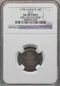 Early Dimes, 1798 10C Large 8, JR-4, R.3, -- Obv Scratched -- NGC Details. AG....