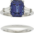 Estate Jewelry:Rings, Sapphire, Diamond, Platinum Rings, Tiffany & Co.. ... (Total: 2Items)