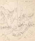Animation Art:Production Drawing, Ray Patin Drawing Group (undated).... (Total: 3 Items)