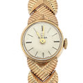 Timepieces:Wristwatch, Lady's Omega Dial Ebel Movement 14k Gold Wristwatch. ...