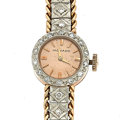 Timepieces:Wristwatch, Lady's Movado 18k Rose Gold & Diamond Wristwatch. ...