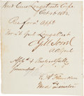 Autographs:Military Figures, Confederate General Gilbert Moxley Sorrel Clipped Signature....