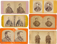 Six Ulysses S. Grant Stereoviews taken during the Civil War