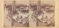 Photography:Stereo Cards, Ulysses S. Grant Council of War Stereoview....