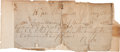 Autographs:Military Figures, Robert E. Lee Military Pass Signed...