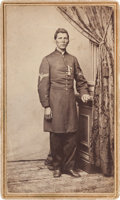 Autographs:Military Figures, [Colored Troops] and [Medal of Honor]. Milton M. Holland Carte de Visite....