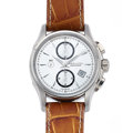 Timepieces:Wristwatch, Like New/Old Stock Hamilton Steel Chronograph Automatic . ...