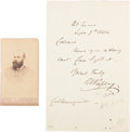 """Photography:CDVs, Confederate Brigadier General Roswell Sabine Ripley Carte de Visite and Autograph Noted Signed """"R S Ripley""""...."""
