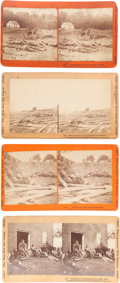 Photography:Stereo Cards, Four Stereo Cards From The War For the Union Series.... (Total: 4 )