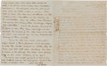 Autographs:Military Figures, Confederate General Samuel G. French Autograph Letter Signed...