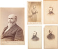 Photography:CDVs, Lot of Five Union Officers' Cartes de Visite and One CabinetCard.... (Total: 5 )
