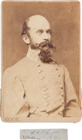 Autographs:Military Figures, Confederate General Richard S. Ewell Signature and Cabinet Card.... (Total: 3 Items)