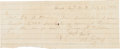 Autographs:Military Figures, Confederate General Jubal Early Autograph Document Signed...
