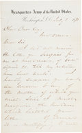 Autographs:Military Figures, William Tecumseh Sherman Autograph Letter Signed...