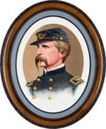 Military & Patriotic:Civil War, Original Oil/ Acrylic Portrait of Medal of Honor Recipient Colonel Joshua Lawrence Chamberlain, 20th Maine, by Noted Portrait ...