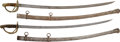 Edged Weapons:Swords, Two German-Made U.S. Cavalry Sabers.... (Total: 2 Items)