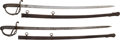 Edged Weapons:Swords, Lot of Two German-Made Non-Regulation U.S. Officers' Swords.... (Total: 2 Items)