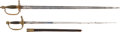 Edged Weapons:Swords, Lot of Two Continental Officers' Swords.... (Total: 2 Items)