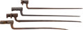 Edged Weapons:Bayonets, Lot of Four Miscellaneous Unidentified Socket Bayonets.... (Total: 4 )