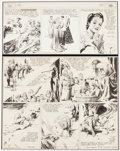 Original Comic Art:Comic Strip Art, Alex Raymond Flash Gordon and Jungle Jim Sunday Comic Strip Original Art dated 5-21-39 (King Features ...
