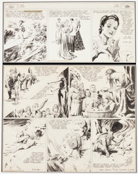 Alex Raymond Flash Gordon and Jungle Jim Sunday Comic Strip Original Art dated 5-21-39 (King Features