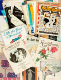 Books:Music & Sheet Music, [Sheet Music]. Large Lot of Approximately Fifty-Five Sheet Music Titles. Various publishers and dates. ...