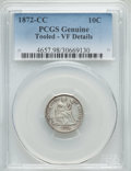 Seated Dimes, 1872-CC 10C -- Tooled -- PCGS Genuine. VF Details. Fortin-101....