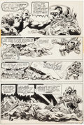 "Original Comic Art:Panel Pages, Bernie Wrightson Swamp Thing #9 ""The Stalker From Beyond""Page 9 Original Art (DC, 1974)...."