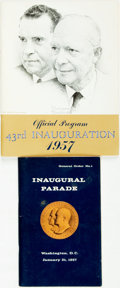 Books:Americana & American History, [U.S. Presidents]. [Dwight D. Eisenhower]. Pair of 43rdPresidential Inauguration Programs. Various publishers, 1957. ...(Total: 2 Items)