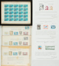 Miscellaneous:Lunchboxes, [Philately]. Group of Sixteen International Philatelic First DayCovers, Postcards and Commemorative Stamp Sets. 1959-1973....