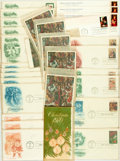 Miscellaneous:Ephemera, Group of Thirty Christmas Themed Philatelic First Day Covers andPostcards. 1970-1975. . ...